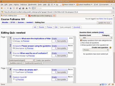Screenshot of the UI