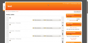 Moodle 2.0 empty course by default